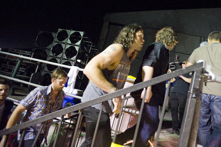 Backstage at Bonnaroo (11 Jun 2010)