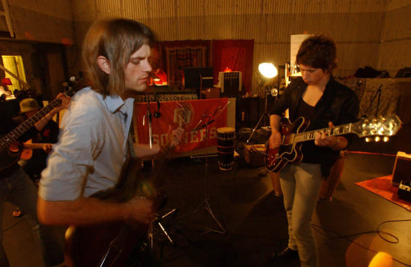 Caleb & Matthew ~ in the Studio recording ASH, CA (2004)